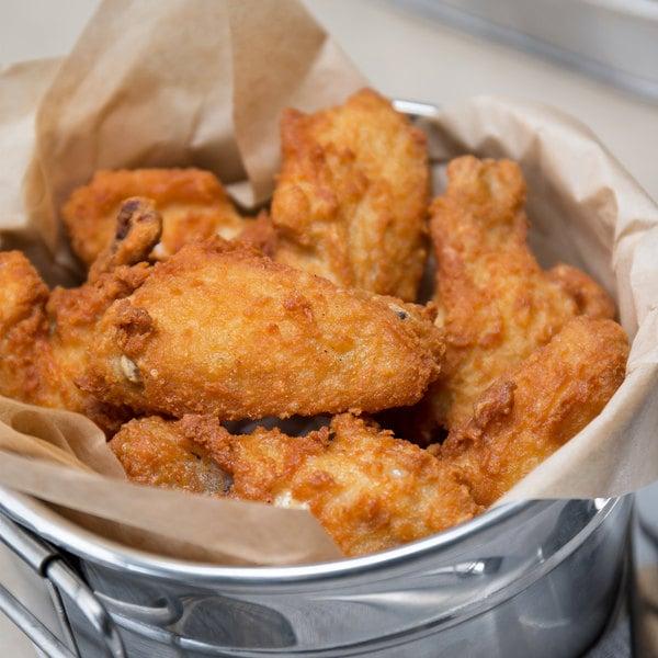 Pierce Chicken 7.5 lb. Bag Fully Cooked Gourmet Seasoned Breaded Chicken Wing-Dings - 2/Case