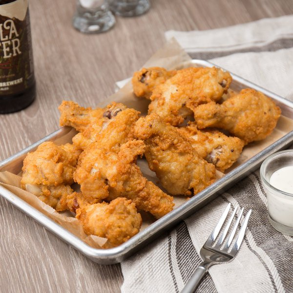Brakebush Wing-Ditties 12 lb. Case Fully Cooked Breaded Chicken Wings