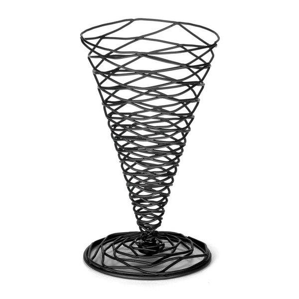 Tablecraft BK157 Artisan Round Appetizer Wire Cone Basket - 4 3/4