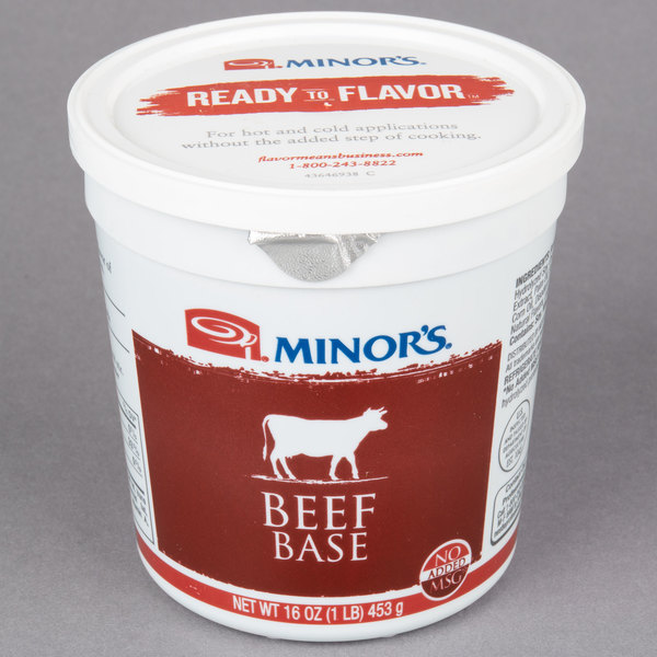 Minor's Beef Base 1 lb. Tub  - 6/Case
