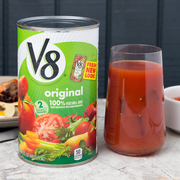 V8 46 oz. Original 100% Vegetable Juice - 12/Case Main Image 3