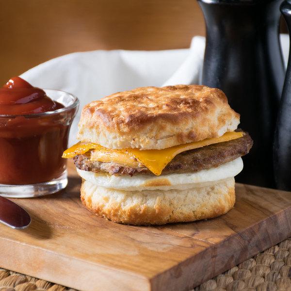 Lettieri's 6 oz. Sausage, Egg, and Cheese Breakfast Sandwich - 12/Case