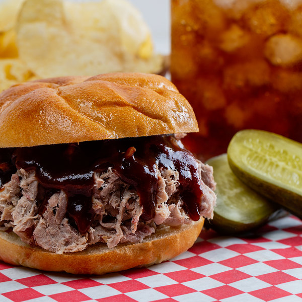 Hatfield Red's Legendary 5 lb. Southern-Style Pulled Pork in Sauce - 2/Case