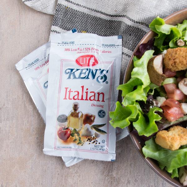 Ken's Foods 1.5 oz. Lite Italian Dressing Packet - 60/Case Main Image 3