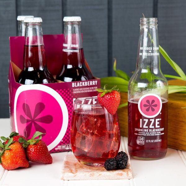 Izze 12 fl. oz. 4-Pack Sparkling Blackberry - 6/Case Main Image 5