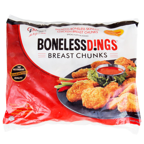 Pierce Chicken Boneless Wing Dings 5 Lb Bag Fully Cooked Breaded