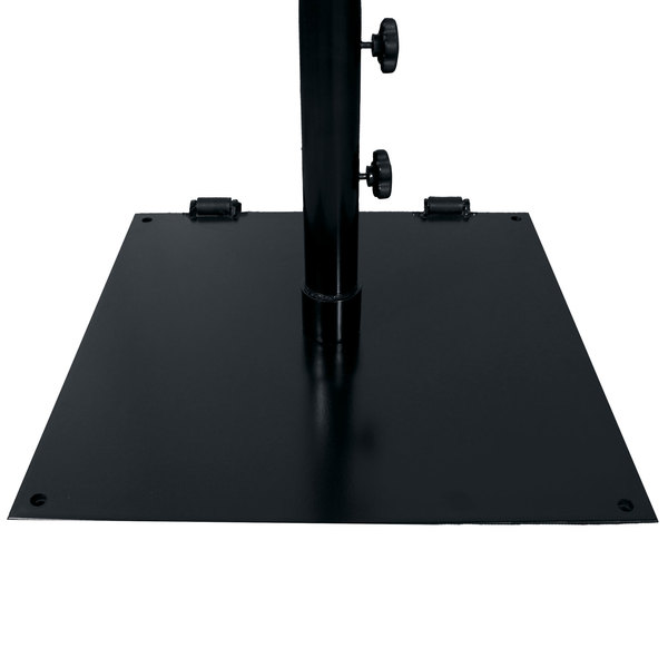 grosfillex us605017 75 lb. black flat square umbrella base 75 Lb Umbrella Stand