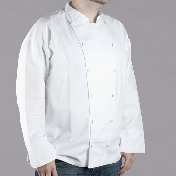 Chef Revival Gold J015-L Chef-Tex Size 46 (L) White Customizable Cuisinier Chef Jacket