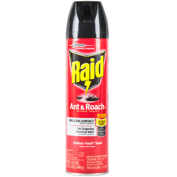 SC Johnson Raid® 669798 17.5 oz. Aerosol Ant and Roach Killer - 12/Case