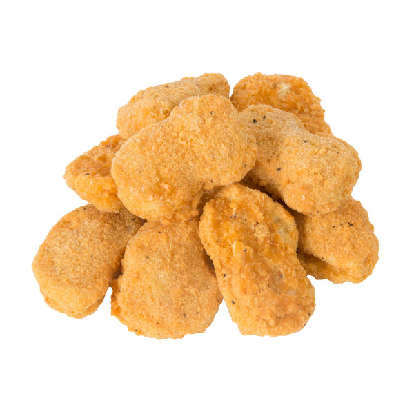 Brakebush Country Goodness 12 lb. Case Fully Cooked Breaded Chicken Nuggets