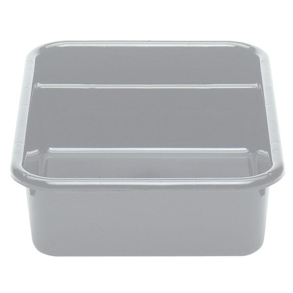 "Cambro 1621CBP180 Poly Cambox 21"" x 16"" x 5"" Light Gray Two Compartment Polyethylene Bus Box"
