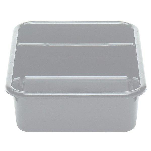 "Cambro 1621CBP180 Poly Cambox 21"" x 16"" x 5"" Light Gray Two Compartment Polyethylene Bus Tub"