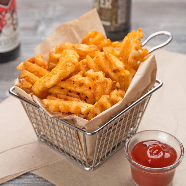 McCain Foods Skin-On Redstone Canyon Waffle Fries 4.5 lb. Bag - 6/Case Main Image 3