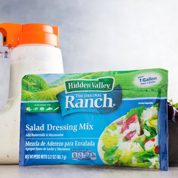 Hidden Valley 3.2 oz. Ranch Salad Dressing Mix - 18/Case Main Image 4