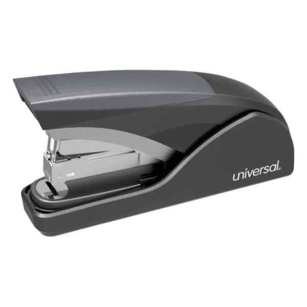 Universal UNV43040 25 Sheet Black / Gray Deluxe Power Assist Full Strip Stapler Main Image 1