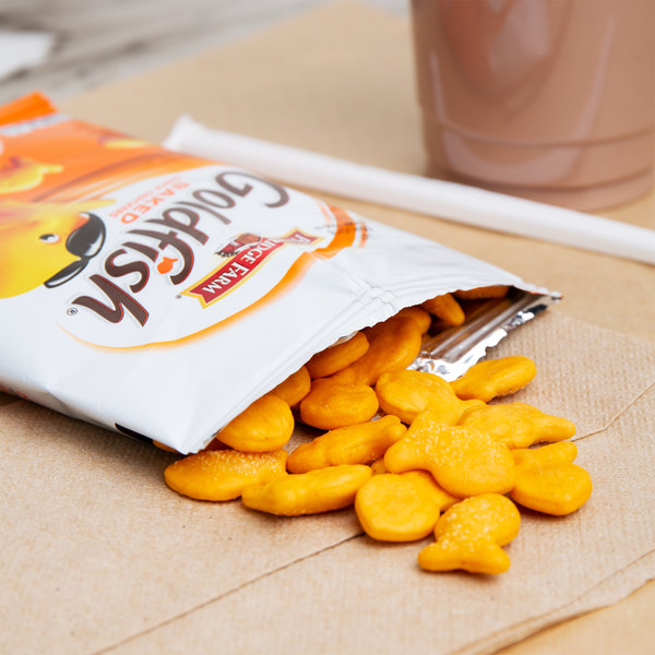 Pepperidge Farm 1.5 oz. Bag of Goldfish Cheddar Crackers - 72/Case