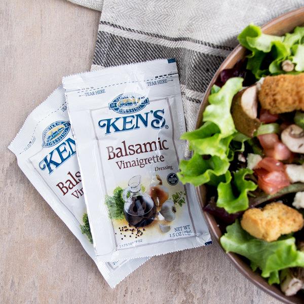 Ken's Foods 1.5 oz. Balsamic Vinaigrette Packet - 60/Case Main Image 3