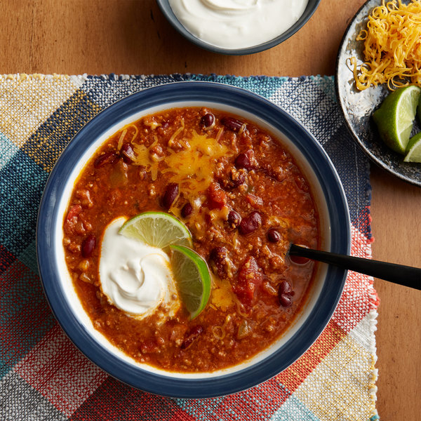 Chef Francisco 4 lb. Timberline Chili with Beans - 4/Case Main Image 2