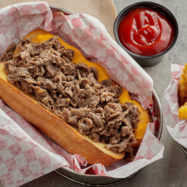 Original Philly Cheesesteak Co. 10 lb. Bag Fully Cooked Sliced Beef Steak Main Image 2