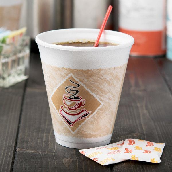 Dart 12X16G ThermoGlaze 12 oz. Cafe G Squat Espresso Foam Cup - 1000/Case