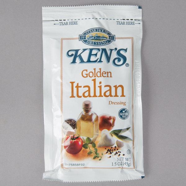 Ken's Foods 1.5 oz. Golden Italian Dressing Packet - 60/Case