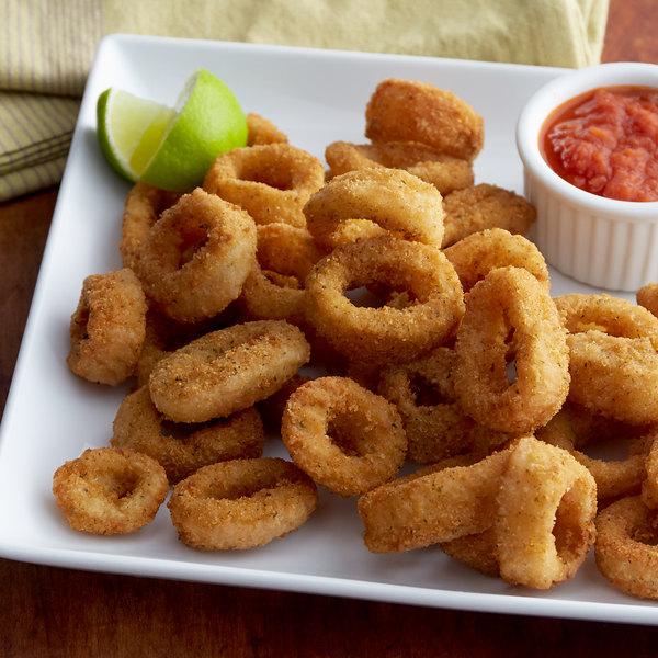 Singleton Seafood 5 lb. Bag of Breaded Calamari Rings - 2/Case Main Image 2