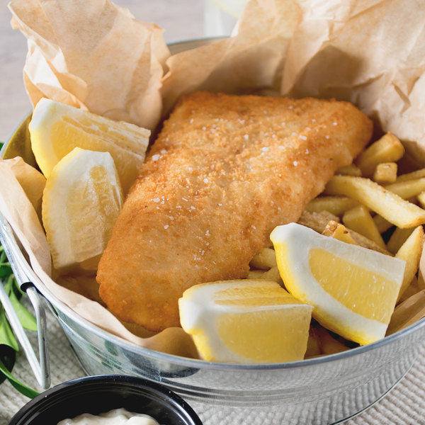 High Liner Foods 5 oz. Wild Caught Lightly Breaded Cod Tail Portions - 10 lb. Main Image 2