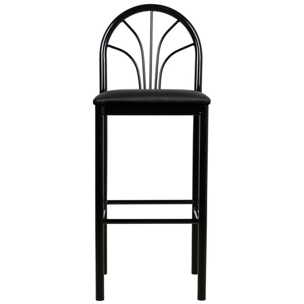 Give Your Restaurant A Classic Appearance With This Lancaster Table U0026  Seating Fan Back Bar Height Cafe Chair.