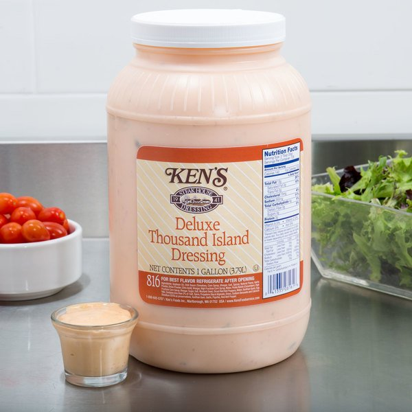 Ken's Foods 1 Gallon Deluxe Thousand Island Dressing - 4/Case