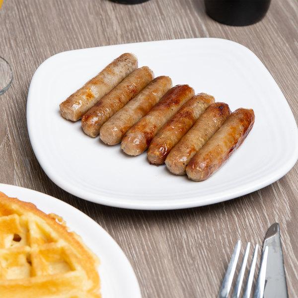 Hatfield Chef Signature Pork Sausage Finger Links 10 lb. Box - 2/Case Main Image 4