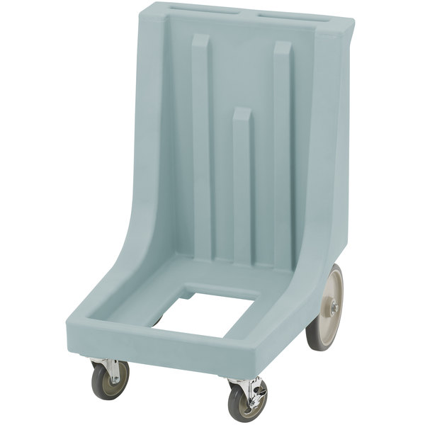Cambro CD300HB Slate Blue Camdolly for Cambro Camcarriers and Camtainers with Handle & Rear Easy Wheels