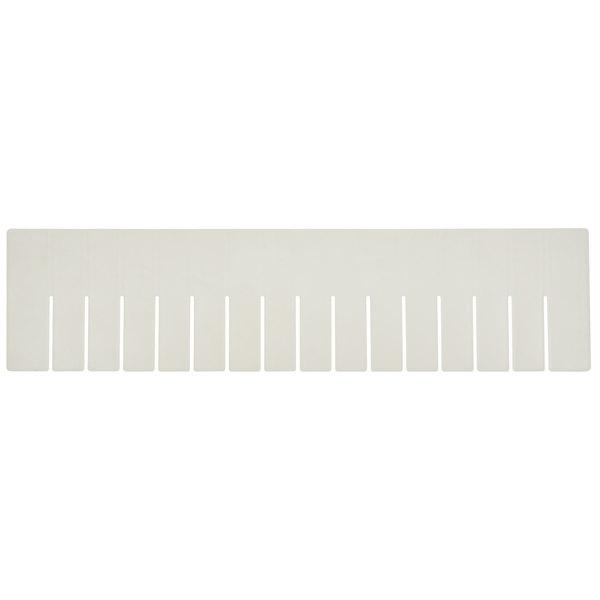 "Long Metro MDL93060N Gray Tote Box Divider - 23"" x 6"""