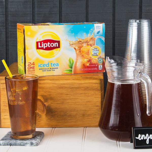 Lipton 24-Count Box 1 Gallon Unsweetened Iced Tea Filter Bags - 4/Case Main Image 3