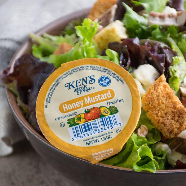 Ken's Foods 1.5 oz. Honey Mustard Dressing Cup - 100/Case