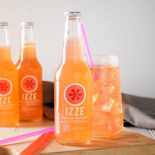 Izze 12 fl. oz. 4-Pack Sparkling Grapefruit Juice - 6/Case Main Image 5