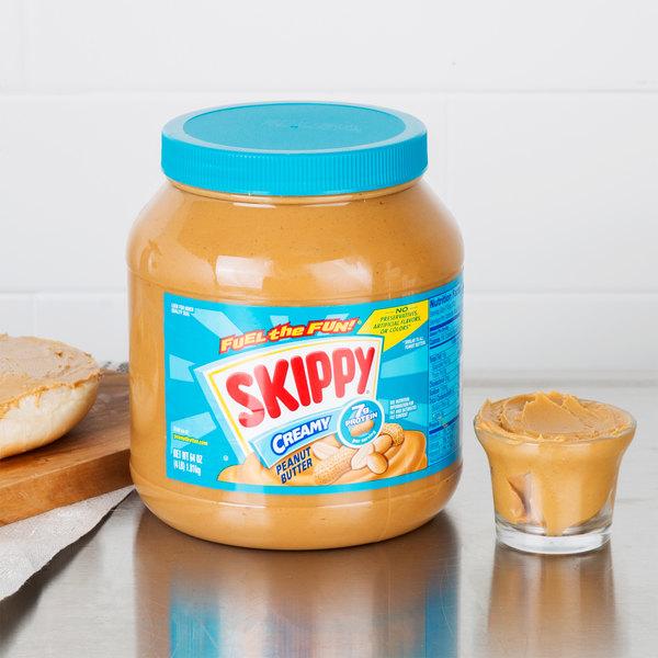 Skippy Creamy Peanut Butter 4 lb. Jar - 6/Case Main Image 4