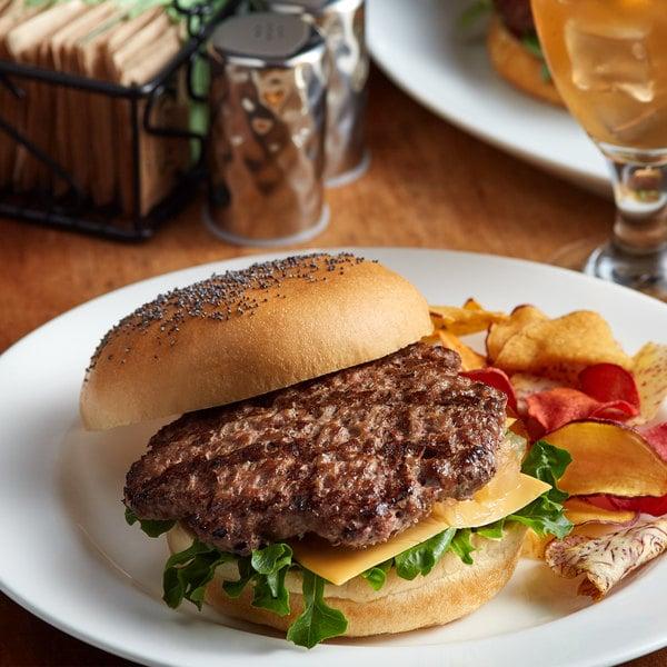 Farmland Foods Gold Medal 4 oz. Black Angus Burgers - 40/Case Main Image 2