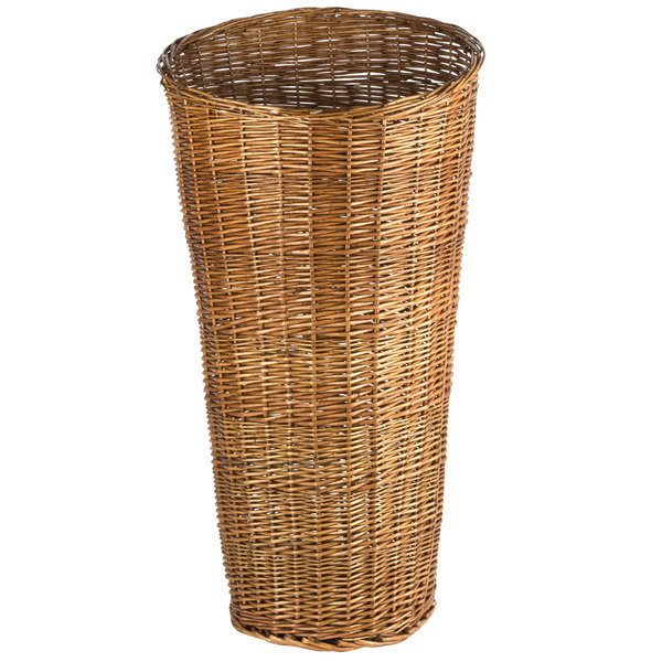 Tall Round Wicker Display Basket With