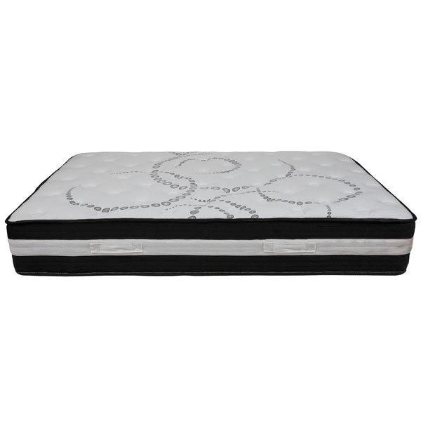 "Flash Furniture CL-E230P-R-F-GG Capri Comfortable Sleep Full Pocket Spring Mattress with 12"" Foam Cushion - 54 1/4"" x 75 1/2"" x 11 3/4"""
