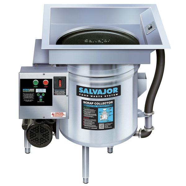 Salvajor S914 Food Scrapper / Waste Collector with Standard Basin - 3/4 hp, 115V Main Image 1