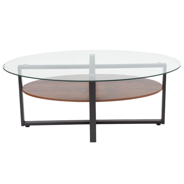 Flash Furniture NANJHCTGG Princeton X X Glass - Two level coffee table