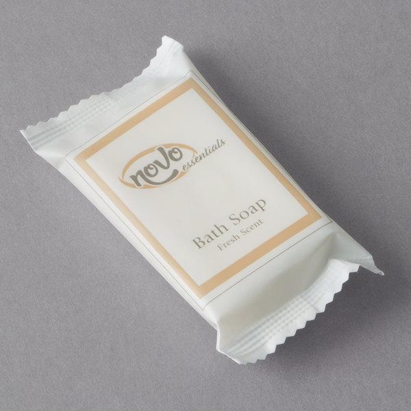 Novo Essentials 0.8 oz. Hotel and Motel Wrapped Bath Soap Bar - 500/Case