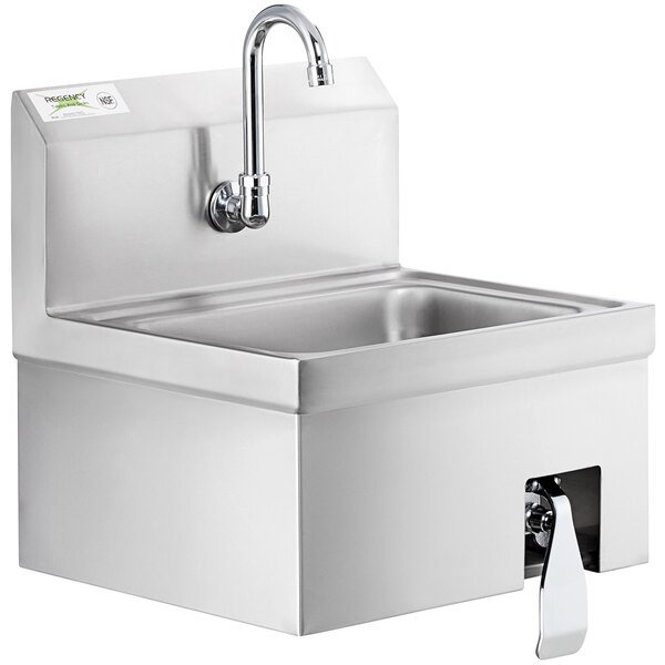 Regency 17 X 15 Hands Free Hand Sink With Knee Operated Valve