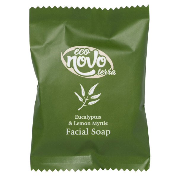 Eco Novo Terra 0.705 oz. Wrapped Glycerin Hotel and Motel Facial Soap Bar - 400/Case