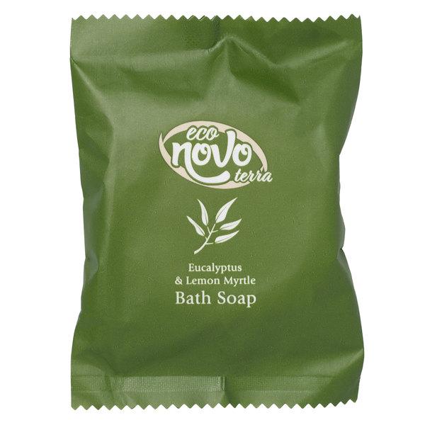 Eco Novo Terra 1.41 oz. Wrapped Glycerin Hotel and Motel Bath Soap Bar - 300/Case