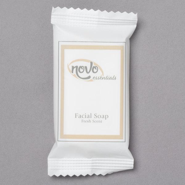 Novo Essentials 0.4 oz. Hotel and Motel Wrapped Facial Soap Bar - 1000/Case