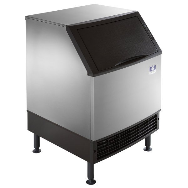 Manitowoc UDF0190A NEO 26 inch Air Cooled Undercounter Dice Cube Ice Machine with 90 lb. Bin - 115V, 198 lb.