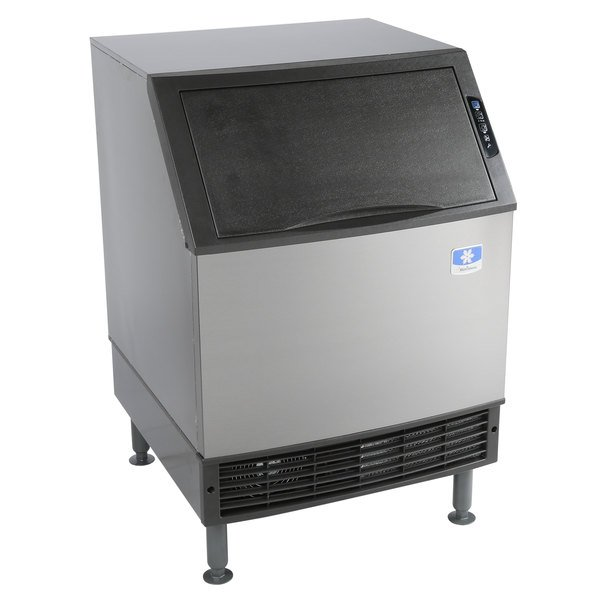 Manitowoc UYF0240A NEO 26 inch Air Cooled Undercounter Half Dice Cube Ice Machine with 90 lb. Bin - 115V, 219 lb.