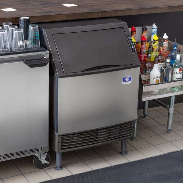 """Manitowoc UYF0190A NEO 26"""" Air Cooled Undercounter Half Dice Cube Ice Machine with 90 lb. Bin - 115V, 193 lb. Main Image 4"""