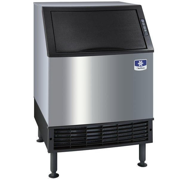 "Manitowoc UYF-0140A NEO 26"" Air Cooled Undercounter Half Dice Cube Ice Machine with 90 lb. Bin - 115V, 137 lb. Main Image 1"
